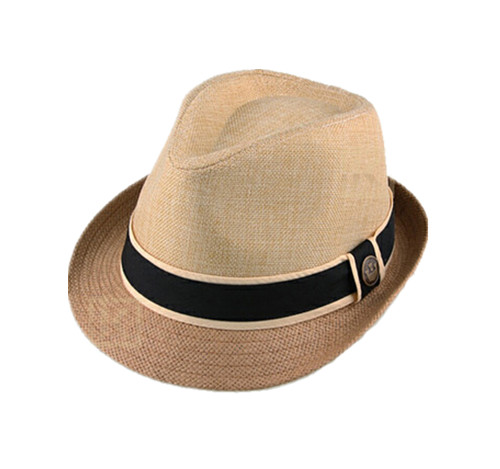 Splicing paper straw fedora straw hat