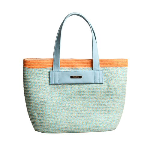 Multi Color Braid Paper Tote Bag