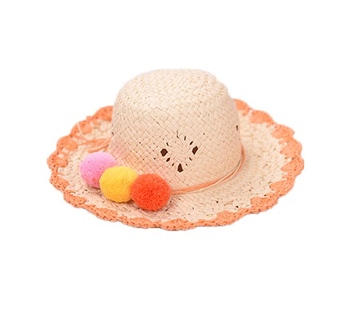 Children Kids Cute Handmade Paper Straw Hat
