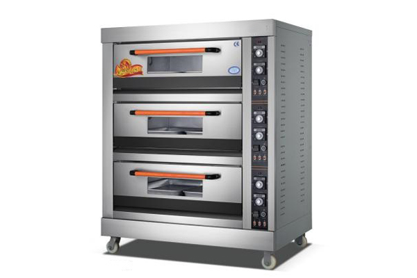 triple layer six trays electric oven for pizza