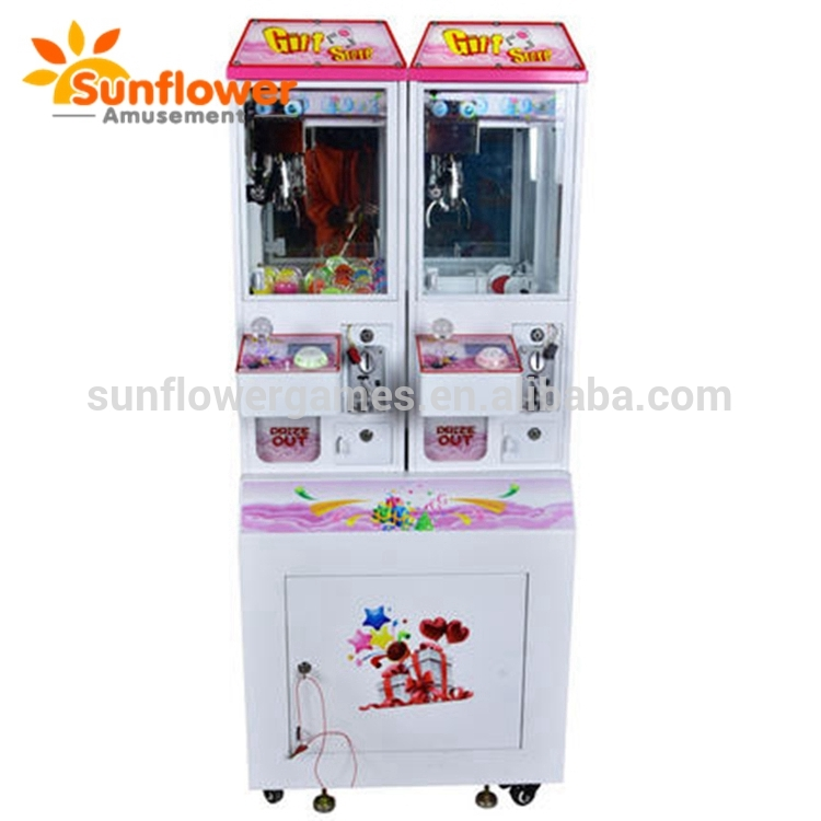 2 Players Mini House Doll Gift Vending Machine Coin Operated Toy Crane Claw Game Machine