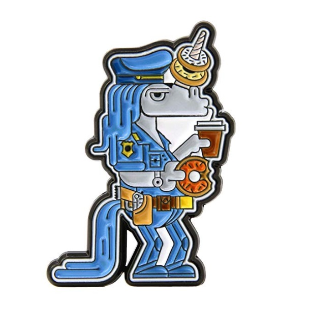 GS-JJ Unicorn Policeman Custom Lapel Pins