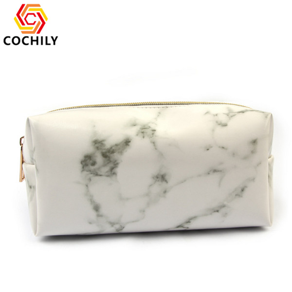 2019 Hot sale marble women cosmetic bag OEM