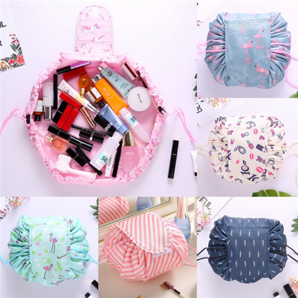 Wholesale eco-friendly nylon portable drawstring cosmetic bags
