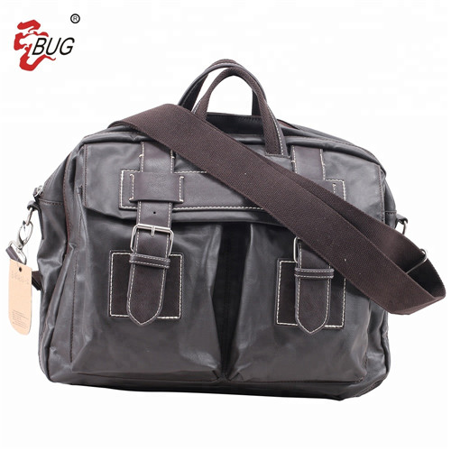 Hot Selling Fashion Black Large Capacity Shoulder Duffle Travel Men Leather Shoulder Bag