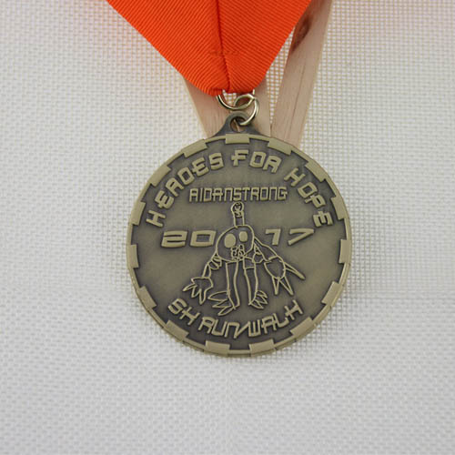 Custom Medals | Heroes for hope 5K Custom medals