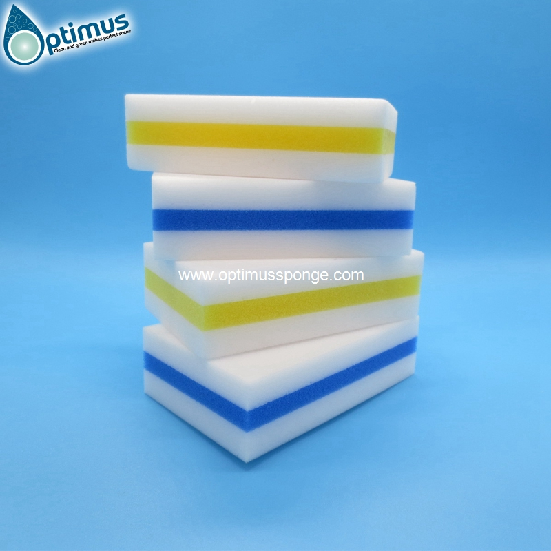 High Density Double Compressed Kitchen Cleaning Melamine Sponge Magic Eraser Pad
