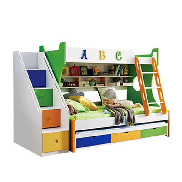 805 colorful cheap child bunk bed with drawer