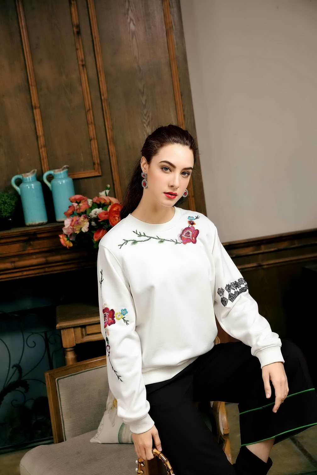 Fashion light luxury  casual high-quality  Sweatshirt clothes