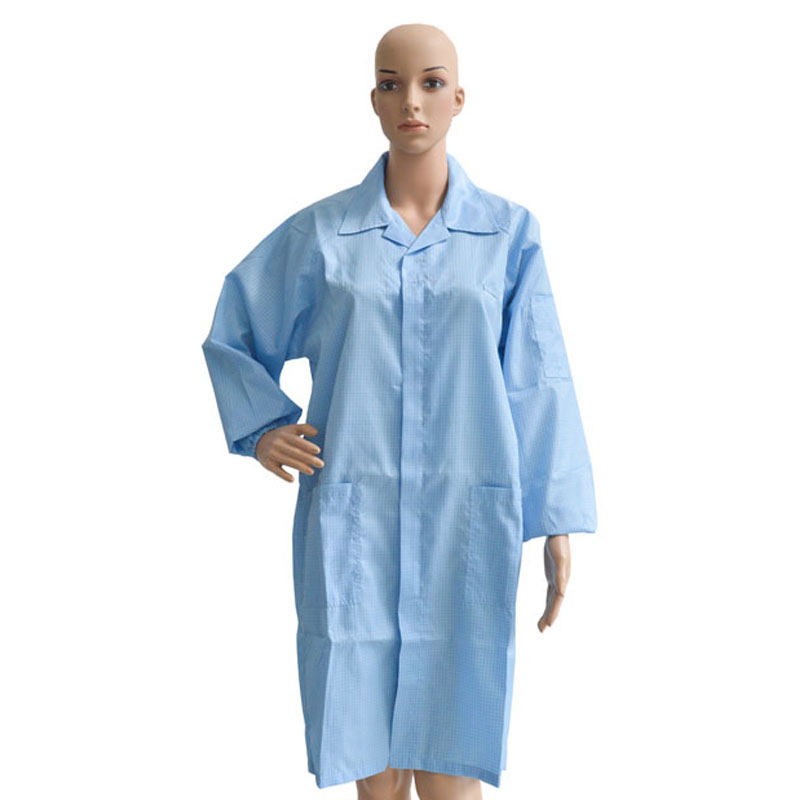 Customize Cotton Garment Clothes Suit Uniform Jackets T-shirt Coverall ESD Antistatic Smock Overcoat