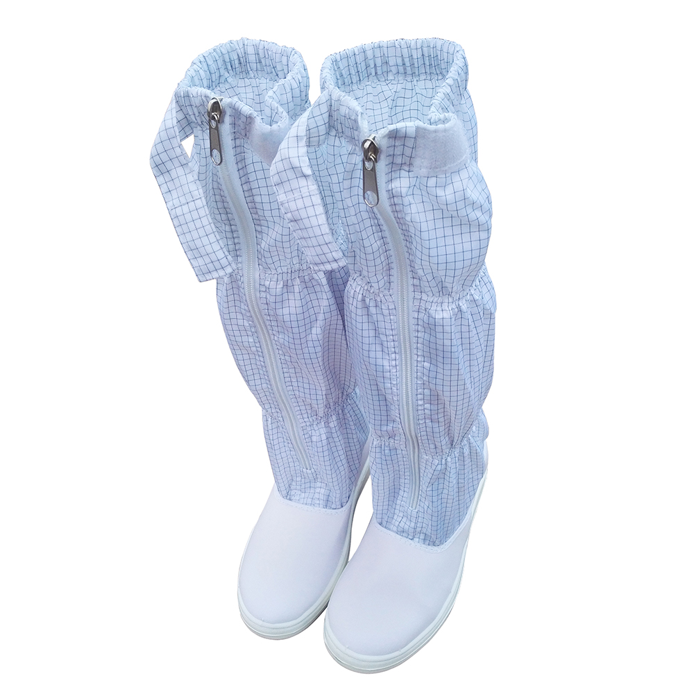 Dust-free cleanroom esd shoes antistatic safety work boot anti-static pvc/pu conductive booty