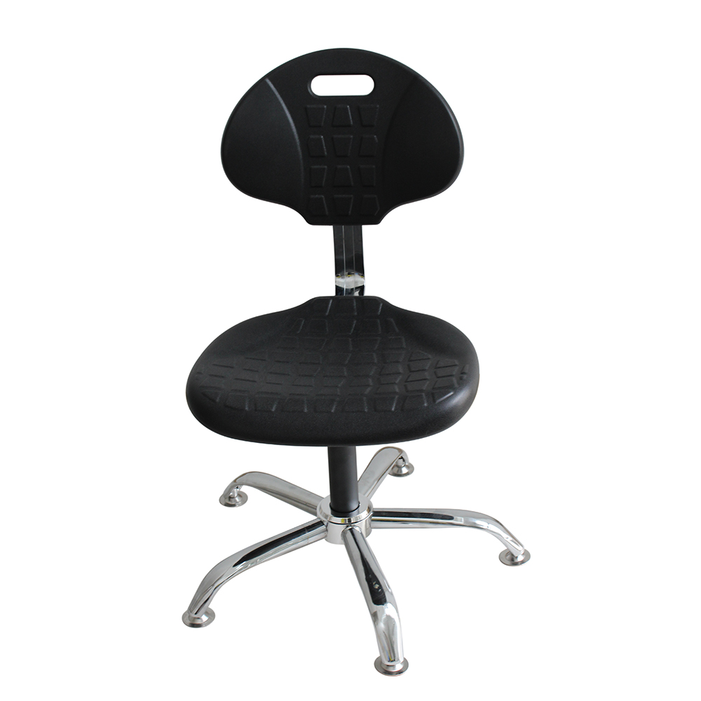 Desk Height ESD Polyurethane Chair with Polished Aluminum Base Anti Static Foam Chair