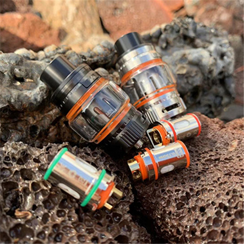 hot selling high quality AAA Lung hit tank good vapor meshi flat coil tank triple  Eletronic cigarette ecig vape hardware