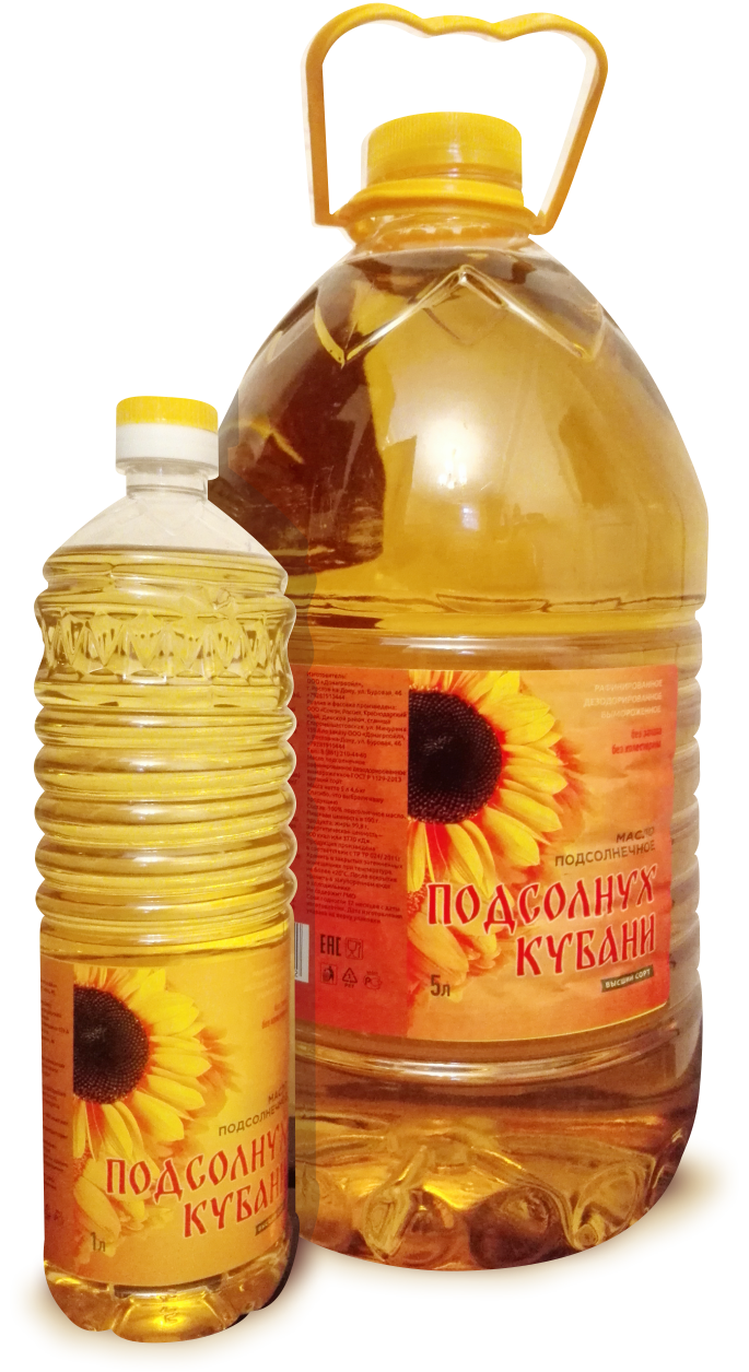 Sunflower Kuban sunflower oil refined deodorized frozen GOST R 1129-2013 the highest grade