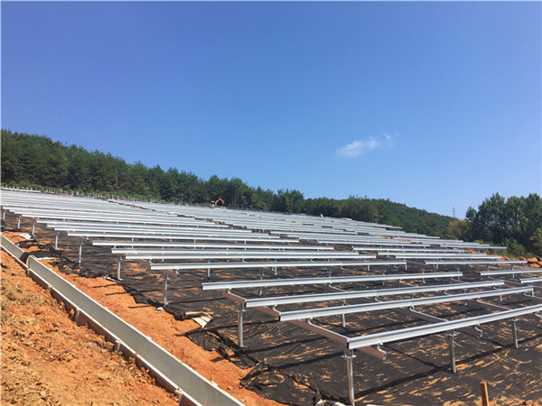 Solar ground mounting systems / Fixed solar panel mounting structure