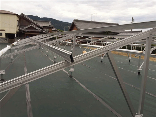 Solar ground mounting systems / Anodized solar aluminum mounting structure