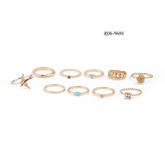 Fashionable Ring Set R06-9686  Fashion ring sets,Engraved rings,Metal alloy rings