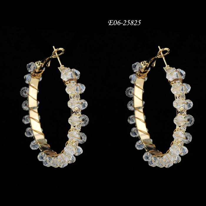 Hoop E06-25825  Wholesale earrings,Fashion earrings,Fashion jewelry sets