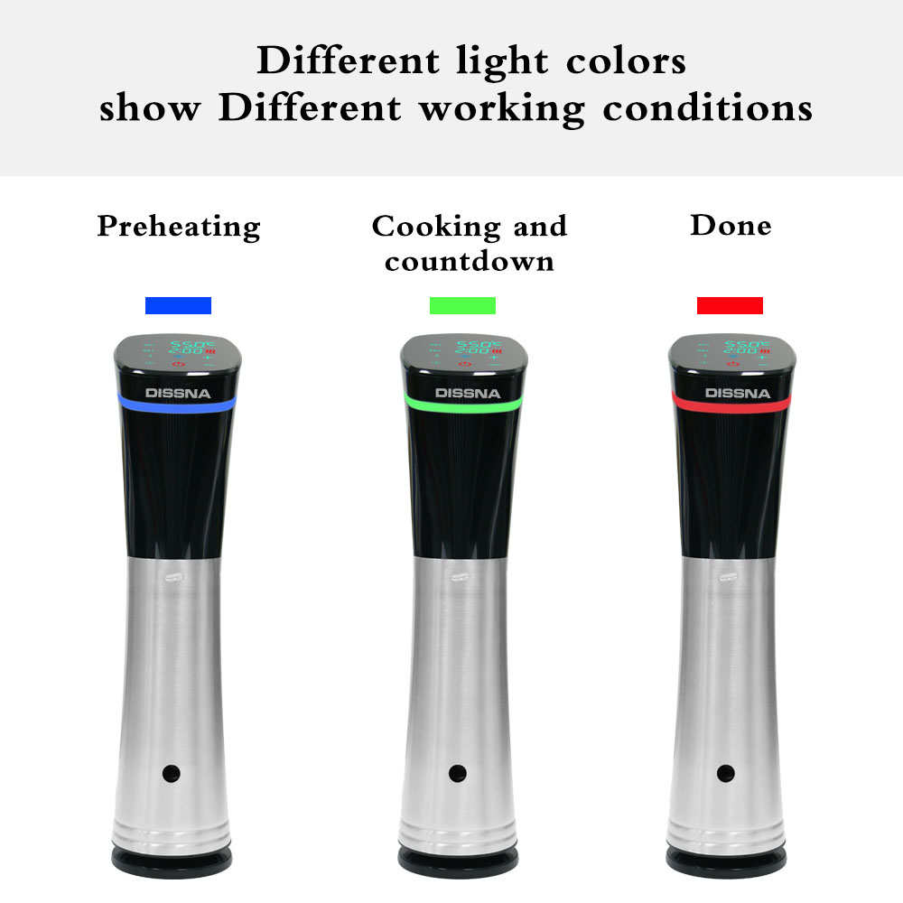 Household Fast Speed 1200w Ipx7 Machine Makinesi Sous Vide Slow Cooker Immersion Circulator