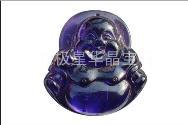 fashion Charm blue Big Stone sapphire Gemstone Jewelry Buddha statue Necklace