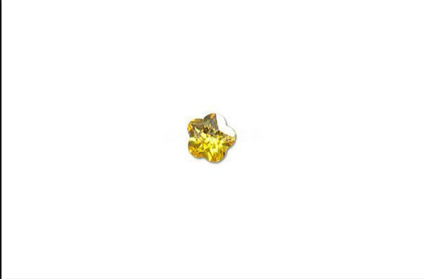 Specially designed mini yellow color star Zircon Ring Plane