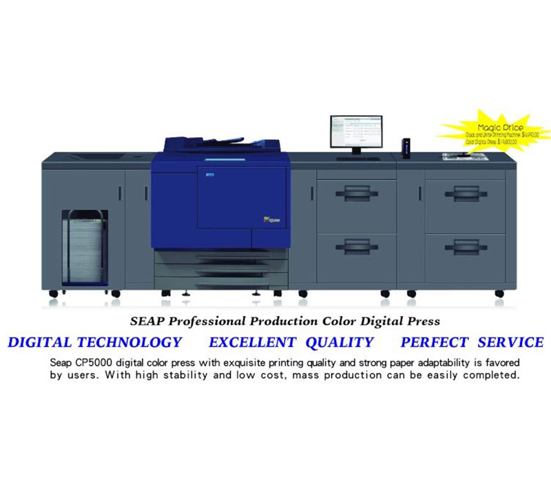 Sticker Printing Machine SEAP CP5000, color digital press, color offset printing machine, sticker printing machine, offset printing machine