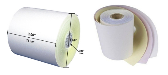3 Part Carbonless Paper 75*75mm