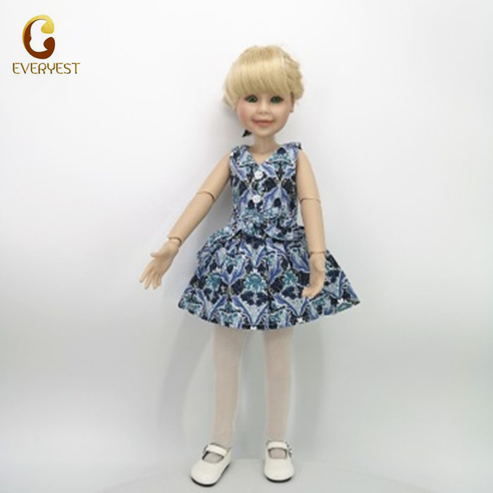 Newest cute educational lifelike vinyl 18 inch american girl doll