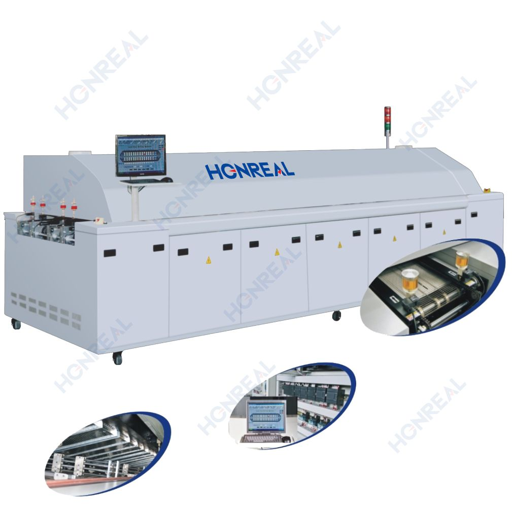 Automatic pcb machine smt machine price reflow oven machine reflow oven 8 temperature zone