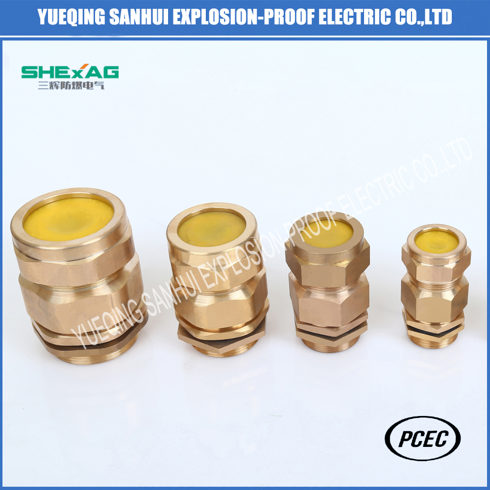 High quality explosion-proof  clamping  brass cable gland