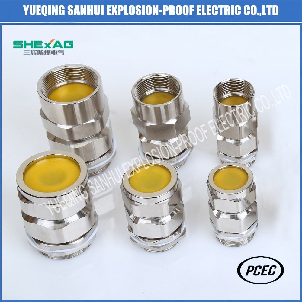 Hot sale Increased safety  clamping brass cable gland