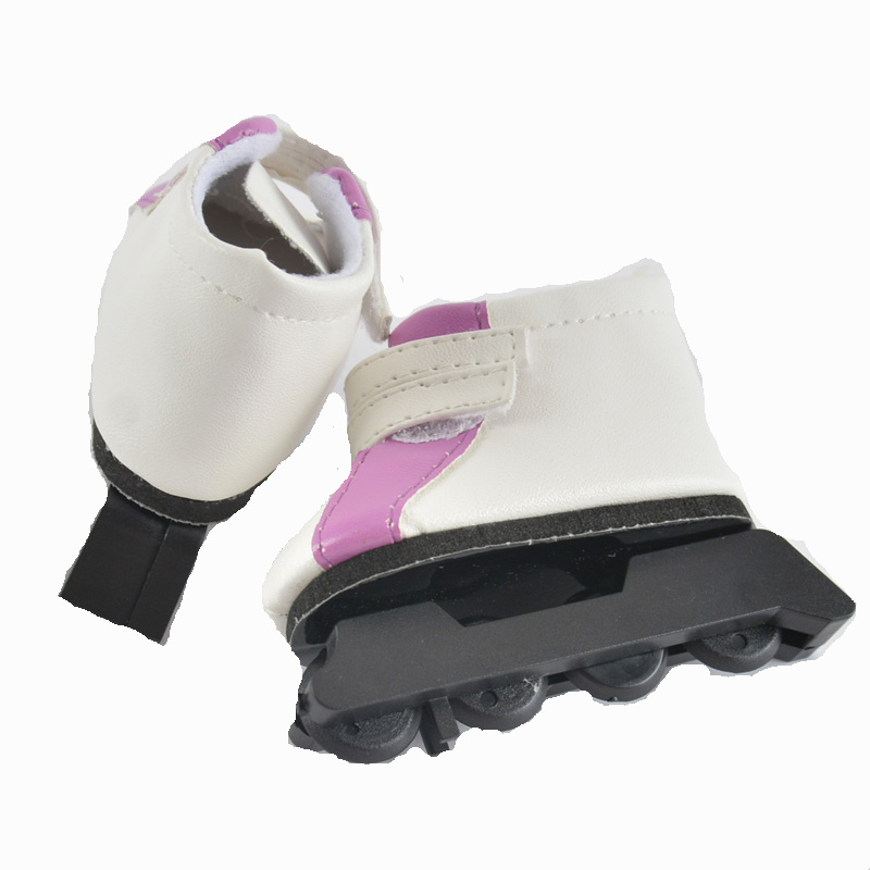 handmade skiing boots pu white doll shoes for ladies 12 inch girl doll shoes