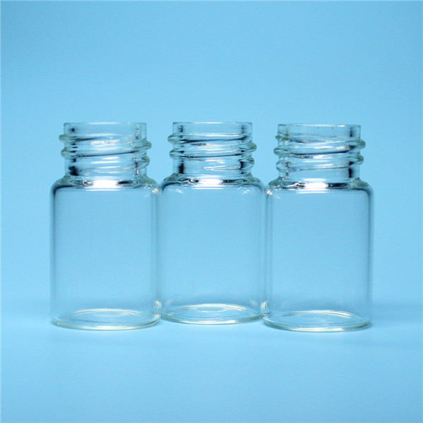 7ml transparent thread mouth glass bottle vial