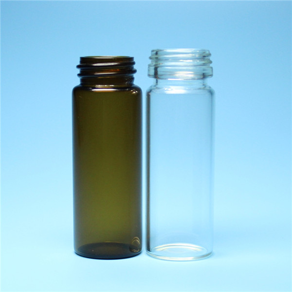 10ml clear or brown screw small glass vial