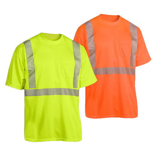 High Visibility Safety T-Shirt with Reflective Tape with ANSI107 (HT-002)