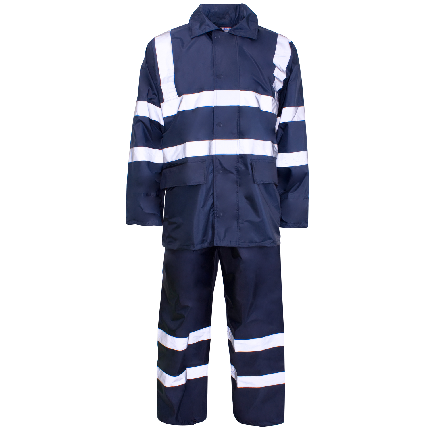 HR-005 Navy Blue 190T Polyester/PVC Rainwear