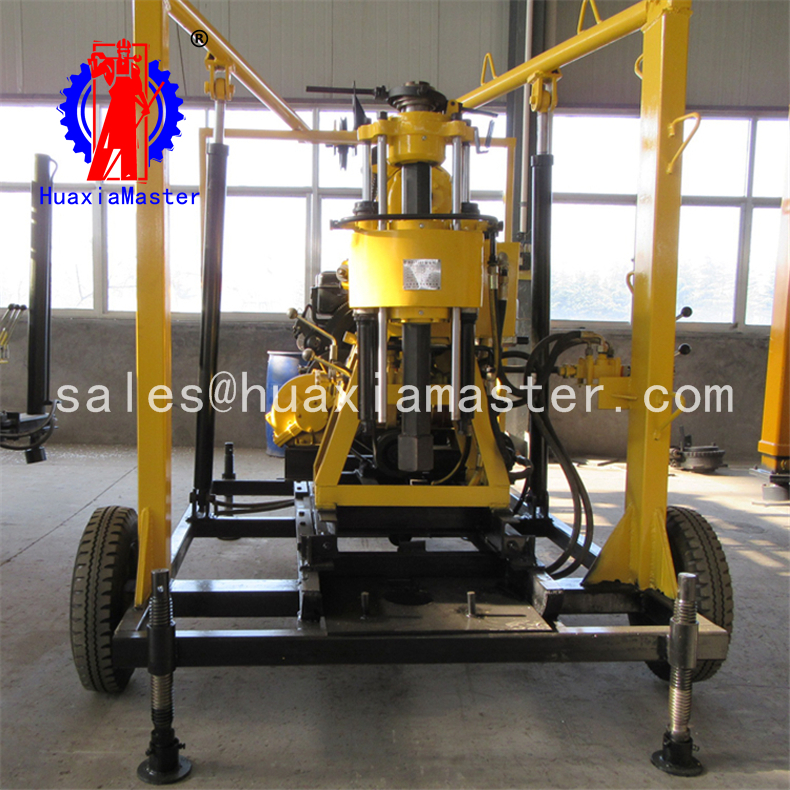 XYX-130 wheeled hydraulic core drilling rig