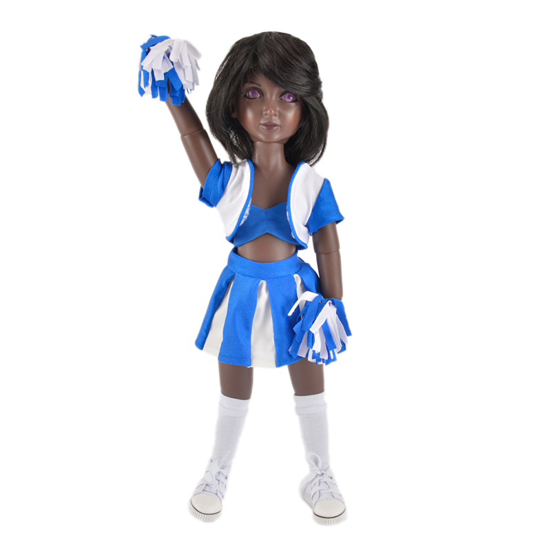 Wholesale blue cheer leading uniform outfits