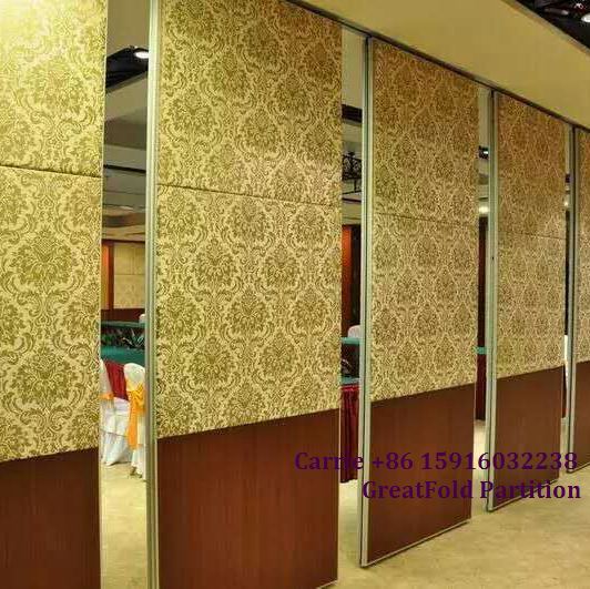 Customized full height office sliding folding soundproof partition wall