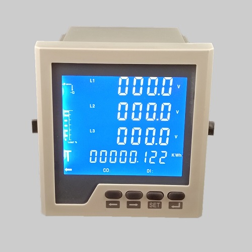 Panel mount digital energy meter LCD ​​​​​​​multifunction power meter with RS485, DI DO analog output function