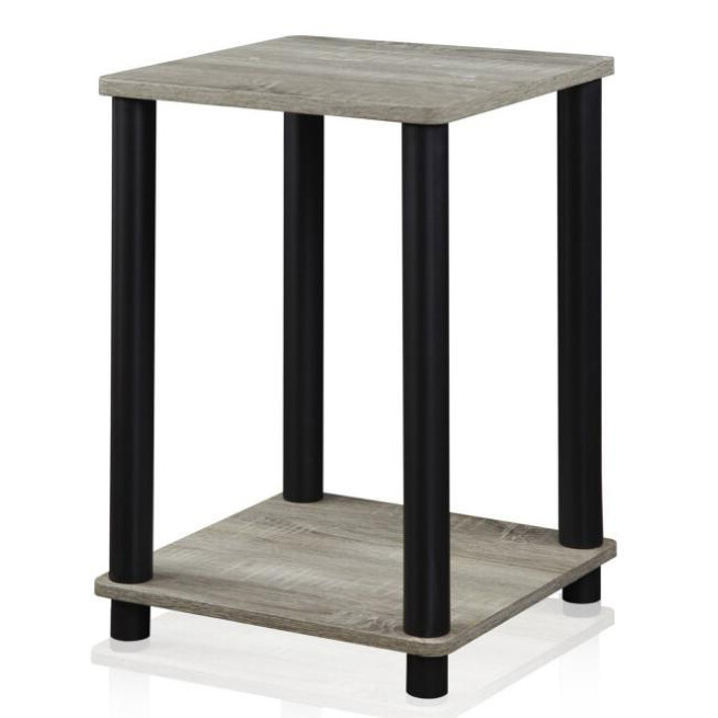 home modern design Simple Square Grey Black Finish Simplistic End Table wholesale