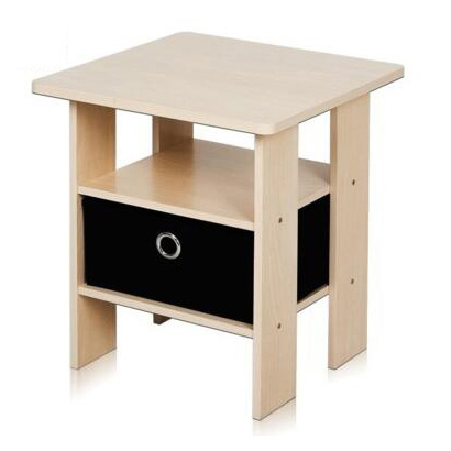 Bedroom bedside Night Stand Storage Shelf with Bin Drawer wholesale