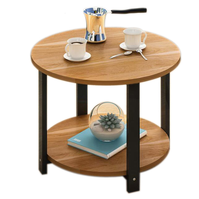 High grade Round  home Wooden Side End Table with Storage Shelf manufacture