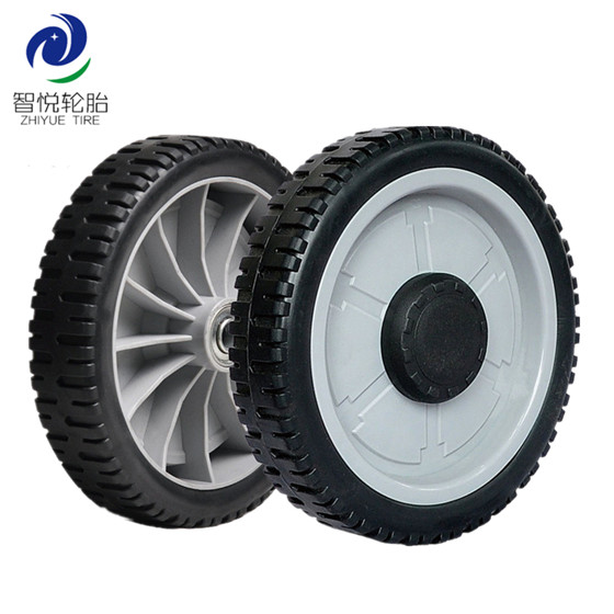 Hot selling high quality 8 inch pvc plastic wheel for lawn mower power tiller tool cart wholesale