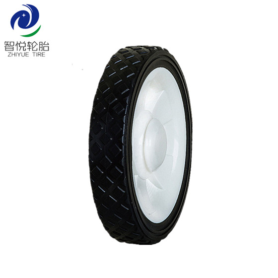 China hot selling 7 inch pvc plastic wheel for folding trolley lawn mower power tiller wholesale