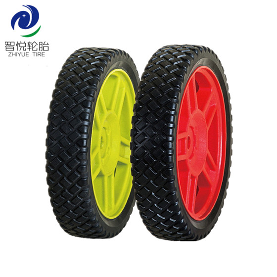 China high quality 8 inch pvc plastic wheel for lawn mower generator wheel trolley cart wholesale