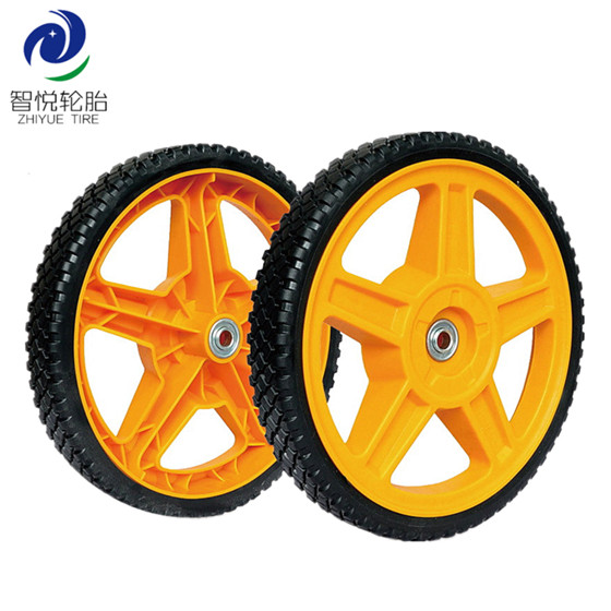 Wheel tyre 12 inch pvc plastic wheel for lawn mower lawn spreader leg exercise wholesale