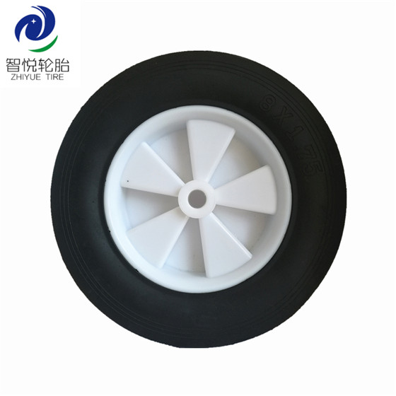 High quality solid tyres 8 inch solid rubber wheel for hand truck trolley cart air compressor wholesale