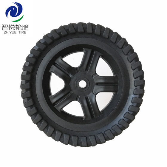 Wheel tyre 8 inch semi pneumatic rubber wheel for hand trolley lawnmower tool cart wholesale