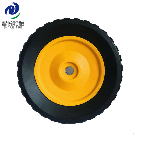 Chinese supplier 8 inch semi pneumatic rubber wheel for generator stair climbing cart trolley wholesale